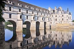 Chateau de Chenonceau France, castle located near the small village of Chenonceaux in the Loire Valley in France. Chateau de Chenonceau France. This castle is royalty free stock photos