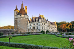 The Chateau de Chenonceau. France. Chateau of the Loire Valley stock image