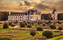 The Chateau de Chenonceau. France. Stock Photography