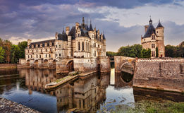 The Chateau de Chenonceau. France. Chateau of the Loire Valley royalty free stock photography