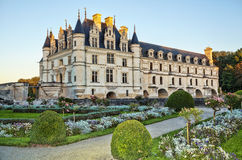 The Chateau de Chenonceau. France. Chateau of the Loire Valley stock photos