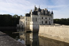 Chateau de Chenonceau. France. Chateau of the Loire Valley stock photos
