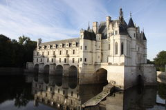 Chateau de Chenonceau. France. Chateau of the Loire Valley stock images