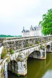 The Chateau de Chenonceau is a French chateau spanning the River Cher, near the small village of Chenonceaux in the. Indre-et-Loire departement of the Loire royalty free stock images