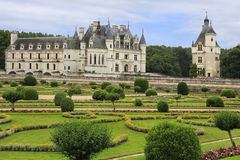 The Chateau de Chenonceau and gardens, France Royalty Free Stock Photography