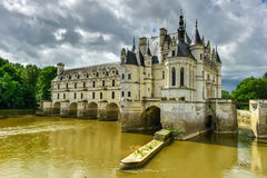 Chateau de Chenonceau Gardens - France. Chateau de Chenonceau on the River Cher, near Chenonceaux in France Stock Photography