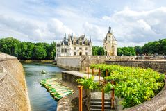 The Chateau de Chenonceau in green is a French chateau spanning the River Cher, near the small village of Chenonceaux in. The Chateau de Chenonceau is a French stock photography