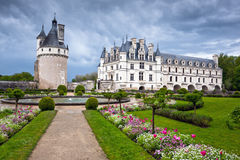 Chateau de Chenonceau, Loire Valley, France Royalty Free Stock Images