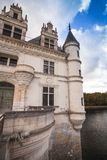 The Chateau de Chenonceau, France. The Chateau de Chenonceau, medieval french castle in Loire Valley, France. It was built in 15-16 century. Unesco heritage site royalty free stock photo