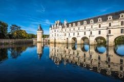 Chateau DE Chenonceau op de Rivier van Cher, de Loire-Vallei, Frankrijk royalty-vrije stock afbeeldingen