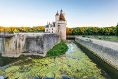 The Chateau de Chenonceau at sunset, France Stock Photography