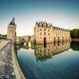 The Chateau de Chenonceau at sunset, France Royalty Free Stock Photo
