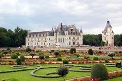 Chateau de Chenonceau trädgårdar Arkivbild