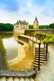 Chateau de Chenonceau Unesco medieval french castle, garden and Royalty Free Stock Images