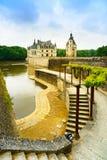 Chateau DE Chenonceau Unesco middeleeuws Frans kasteel, tuin en royalty-vrije stock afbeeldingen