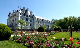 Chateau DE Chenonceau, de Vallei van de Loire, Frankrijk stock foto's