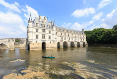 The Chateau de Chenonceau was built in the 15-16 centuries. Stock Photography