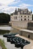 Chateau de Chenonceau y cortezas fotos de archivo libres de regalías