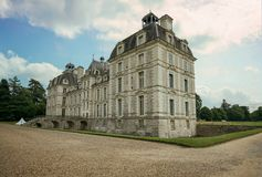 Chateau de Cheverny από πίσω Στοκ Φωτογραφία