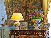 Room in the Chateau de Cheverny Stock Images