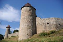 Chateau De Chevreaux. The chateau de chevreaux is situated in the french village of Chevreaux, located in the Jura region (Franche-Comté) in France. A local Stock Image