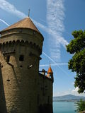 Chateau de Chillon 04. Chateau de Chillon, the famous castle in Chillon, Switzerland on Lake Geneva Royalty Free Stock Images