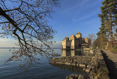 Chateau de Chillon Lizenzfreie Stockfotos