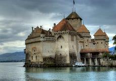 Chateau de Chillon en Suisse images libres de droits