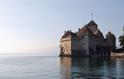 Chateau de Chillon on Geneva Lake. Montreux. Switzerland. royalty free stock image