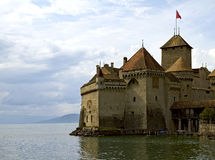 Chateau de Chillon on Lake Geneva Stock Photo