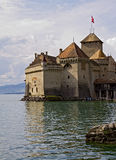 Chateau de Chillon on Lake Geneva Stock Photos