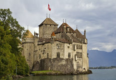 Chateau de Chillon on Lake Geneva Royalty Free Stock Images