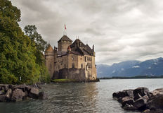 Chateau de Chillon , lake Geneva , Montreux Stock Image