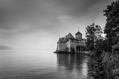 Chateau de Chillon nära Montreux, Schweiz royaltyfria bilder