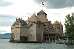 Chateau de Chillon nearby Montreux in Switzerland Stock Photography