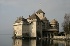 Chateau De Chillon Rockera Arkivbild