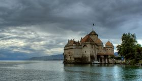 Chateau de Chillon in switzerland Royalty Free Stock Photos