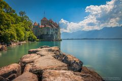 Chateau De Chillon. This view just took me somewhere else royalty free stock photo