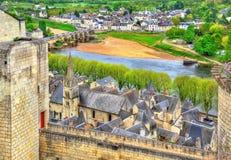 Chateau de Chinon i Loiret Valley - Frankrike Royaltyfri Bild