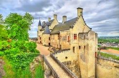 Chateau de Chinon i Loiret Valley - Frankrike Royaltyfri Foto