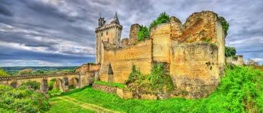 Chateau de Chinon i Loiret Valley - Frankrike Arkivbilder