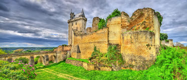 Chateau de Chinon in the Loire Valley - France Stock Images