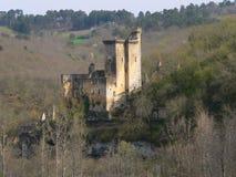 chateau de Commarque,列斯Eyzies deTayac Sireuil (法国)。 库存照片