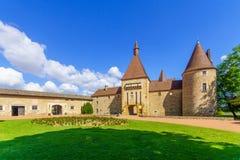 Chateau de Corcelles, i Beaujolais fotografering för bildbyråer