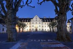 chateau de delemont jura switzerland Royaltyfri Foto