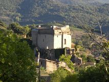 Chateau de dio, a castle in the herault department, france. Chateau de dio, a castle in the village of dio-et-valquieres, in the department of herault, Languedoc royalty free stock photography