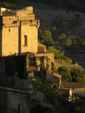 Chateau de dio, a castle in the herault department, france. Chateau de dio, a castle in the village of dio-et-valquieres, in the department of herault, Languedoc royalty free stock image