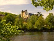 chateau de dordogne fayrac Royaltyfri Bild