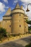 chateau de entrance法国sarzeau suscinio 免版税图库摄影