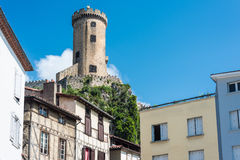 Chateau de Foix castle , France. Chateau de Foix castle overlooks this town of Ariege in Midi Pyrenees, France royalty free stock photography